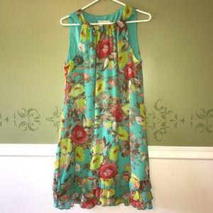 Karin Stephens floral A line dress, size 10